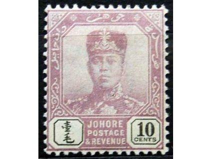 Malaisie, Johor, 1904, 10C Sultán, těžší *