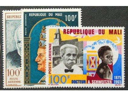 Mali, 1965, 100Fr letecká, 3 ks známek, **