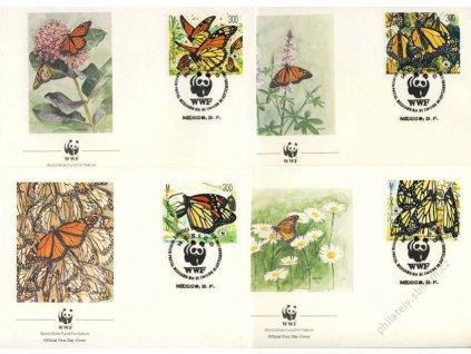 Mexiko, 1988, WWF, 4 ks obálek
