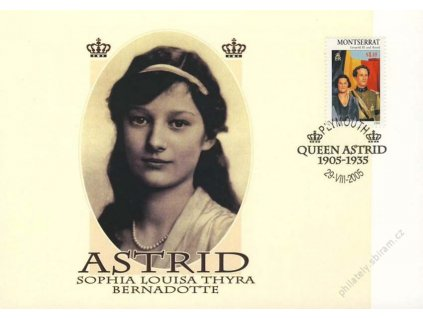 Montserrat, 2005, pamětní list Queen Astrid