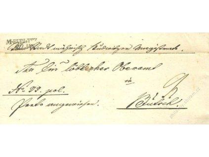 M:Budwitz, dopis z roku 1845, stopy stáří