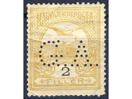 Maďarsko, 1914, perfin G.A., ** , lomy