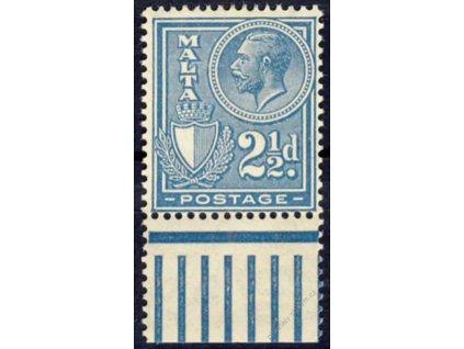 Malta, 1926, 2 1/2Jiří V., MiNr.120, * po nálepce
