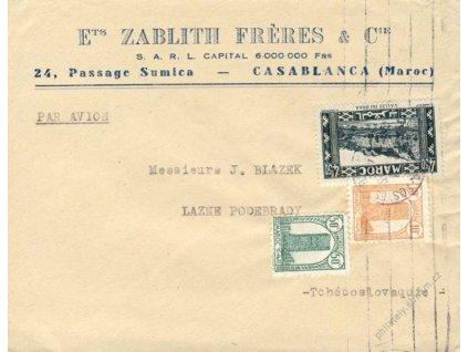 Maroko, 1946, DR Casablanca, firemní dopis