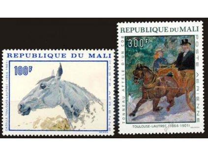 Mali, 1967, 100-300Fr letecká série, Nr.158-59, **