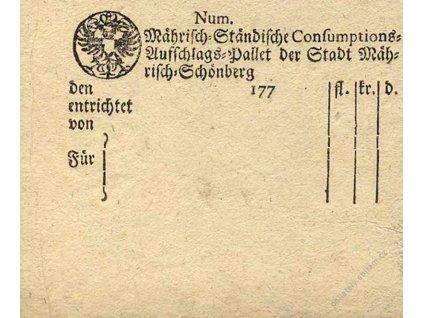 Mährisch Schönberg, 1770, prázdný formulář