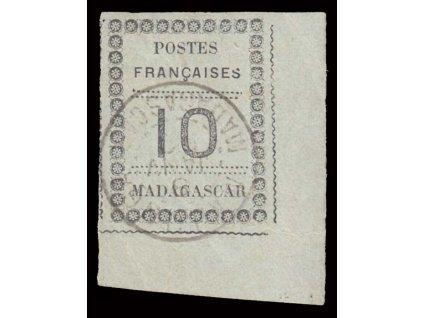 Madagaskar, 1891, 10C MiNr.9, razítkované