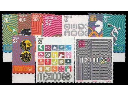 Mexiko, 1968, 20C-10P série, MiNr.1283-92, **