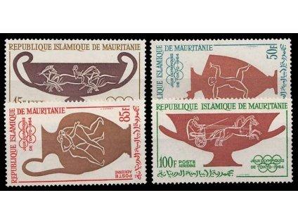 Mauritánie, 1964, 15-100Fr letecká série, MiNr.232-35, **