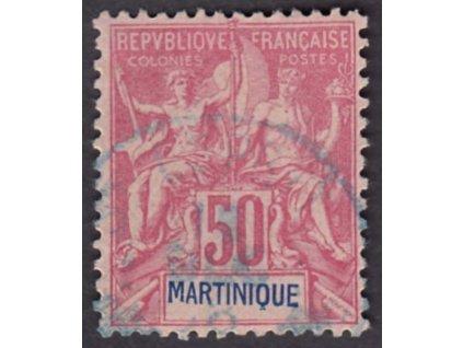 Martinik, 1892, 50C Alegorie, MiNr.36, razítkované