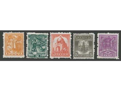 Mexiko, 1934, 30C-5P koncové hodnoty série, **