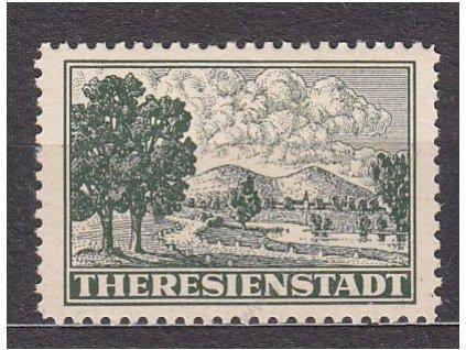 Terezínská zn. zoubkovaná, celkové falzum, Nr.Pr1