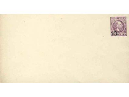 Indie, 189?, celinová obálka 10C/25C Vilém