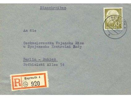1956, Čs. vojenská mise Spojenecké kontrolní rady,
