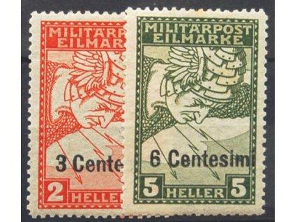 Itálie, 1918, 3C/2H-6C/5H série, * po nálepce, dv