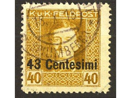 Itálie, 1918, 43C/40H Karel, L 11 1/2, razítkované