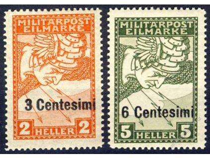 Itálie, 1918, 3C/2H-6C/5H Spěšné, * po nálepce