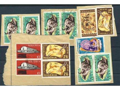 Nigeria, 1963/69, 4 ks výstřižků z balíků, různá jakost