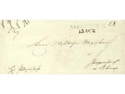 Neustadt, skládaný dopis z roku 1847