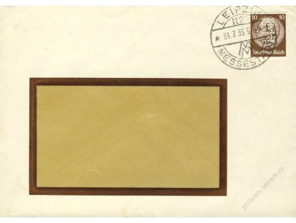 Německo, 1935, DR Leipzig, dopis se zn. 10Pf s perfinem