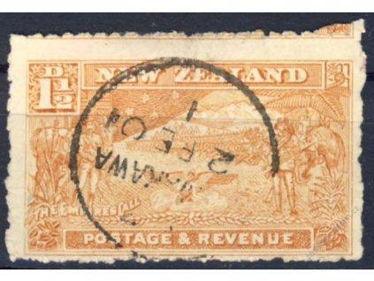 Nový Zéland, 1900, 1 1/2P Výjev, MiNr.97, razítko