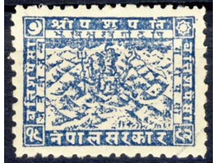 Nepál, 1941, 32P modrá, MiNr.57, **