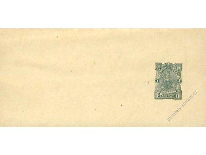 Nikaragua, 1891, 1C novinová páska, neprošlé