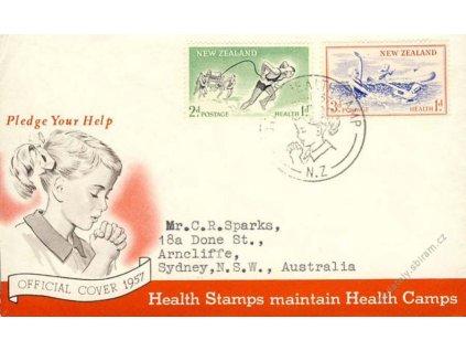 Nový Zéland, 1957, FDC, zasláno do Austrálie