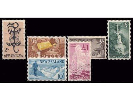 Nový Zéland, 1960, 1Sh-1Pound koncovky série, razítkované