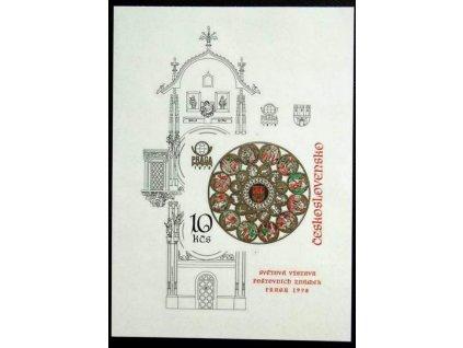 1978, 10Kčs nezoubkovaný aršík Orloj, Nr.A2327B, **