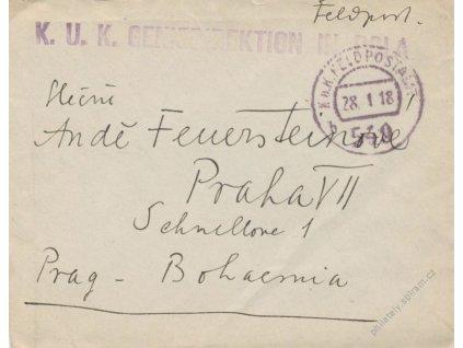 No.549b + K.u.K. Geniedirektion in Pola