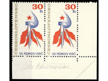 Ondráček, 1976, podpis na známkách, **
