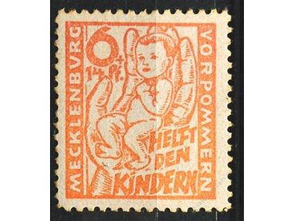 Mecklenburg-Vorpormmern, 1945, 6Pf světle červená, **