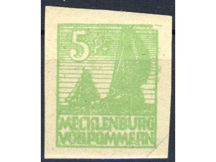 Mecklenburg-Vorpormmern, 1946, 5Pf zelená, **