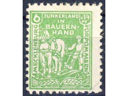 Mecklenburg-Vorpommern, 1945, 6Pf zelená, **