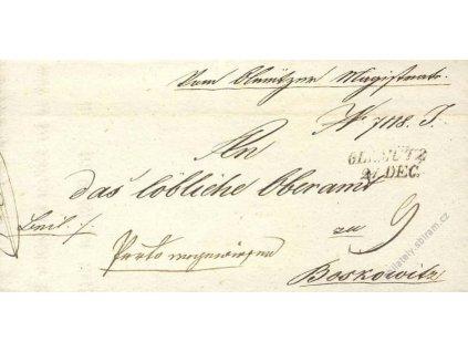 Olmutz, skládaný dopis z roku 1843