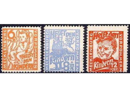 Mecklenburg-Vorpommern, 1945, 6-12Pf série, **