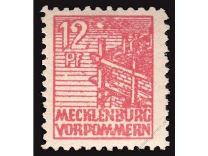 Mecklenburg-Vorpommern, 1946, 12Pf červená, *