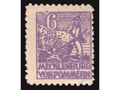 Mecklenburg-Vorpommern, 1946, 6Pf fialová, DV, **
