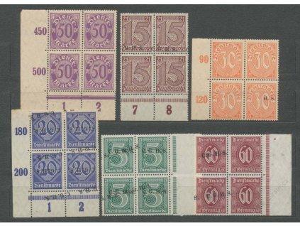 Oberschlesien, 1920, 4bloky, posuny, obtisky, **/*
