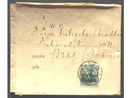 Polen, 1918, DR Warschau, novinová páska, tiskopis