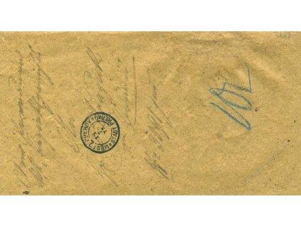 Přerov Město, skládaný dopis z roku 1873