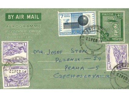 Pakistán, 1964, DR Vah Cantt, aerogram