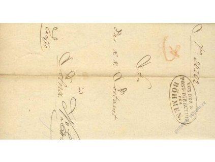 Post-Direction für Böhmen, skládaný dopis
