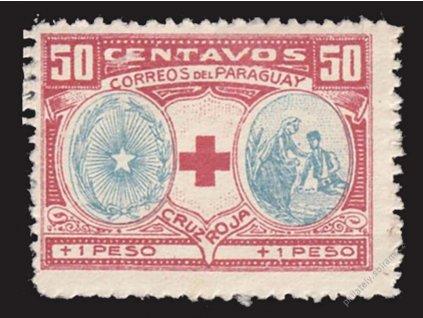 Paraguay, 1922, 50C Červený kříž, MiNr.VII, **