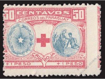 Paraguay, 1922, 50C Červený kříž, * po nálepce