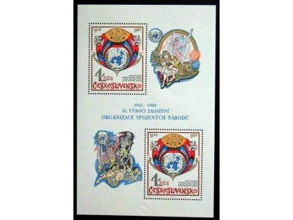 1980, 4Kčs aršík OSN, Nr.A2442, **
