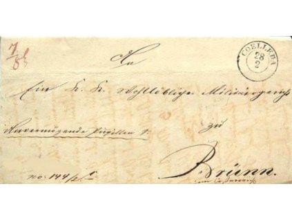 Coelleda, skládaný dopis z roku 1846