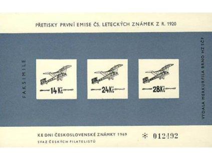A-Výsadní letecký tisk 1920 v barvě modré