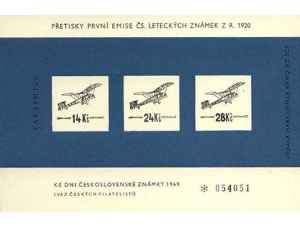 Výsadní letecký tisk 1920 v barvě tmavě modré